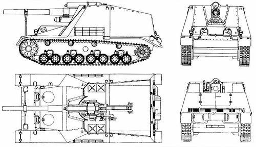 15 cm Panzerhaubitze auf GW III/IV Hummel (Sd.Kfz.165)