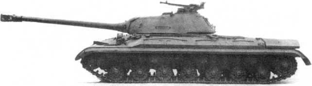 5.Тяжелый танк Т-10, вид слева. Хорошо виден наружный топливный бак на корме корпуса (ИЖ).