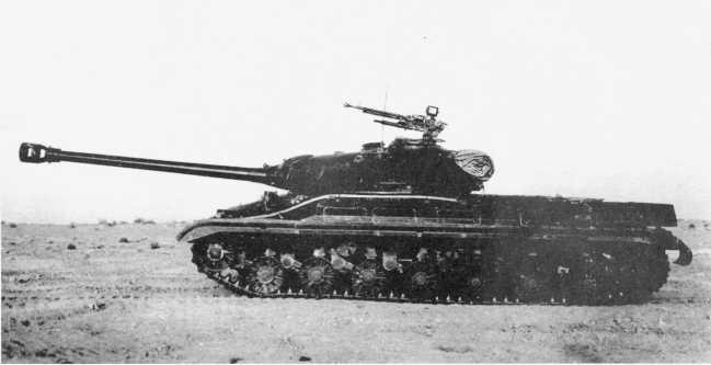 12.Тяжелый танк Т-10 на испытаниях, вид слева. 1955 год (ИЖ).