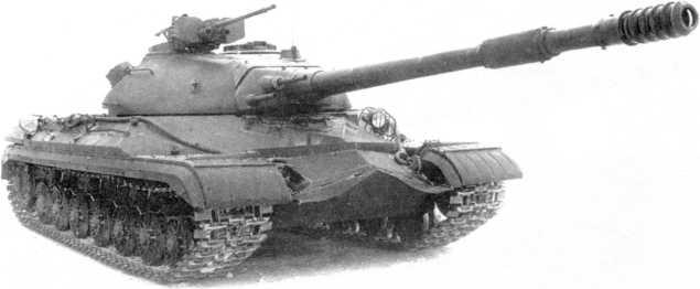 39.Опытный образец танка «объект 265» на испытаниях, 1952 год. Хорошо видна установка спаренных с пушкой 14,5 и 7,62-мм пулеметов (РГАЭ).
