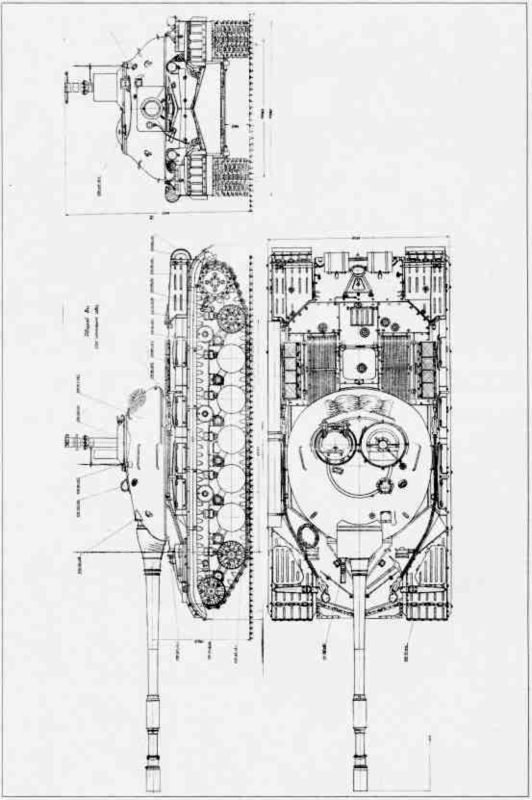 62.Схема установки оборудования подводного вождения танка (ОПВТ) на Т-10М (АК).
