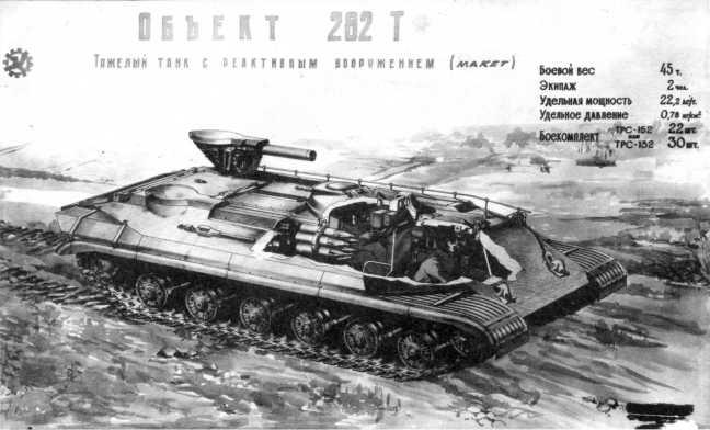85.Проект ракетного танка «объект 268Т». 1958 год (АСКМ).