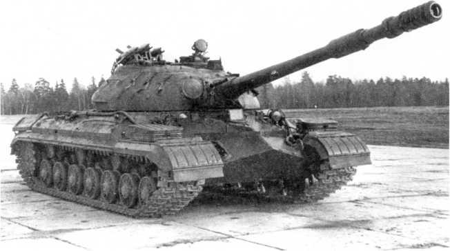 87.Опытный вариант танка Т-10М с установкой ПТРК «Малютка», общий вид (ИЖ).