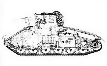 Эскиз легкого танка, датированный 11/1945 г., исполнитель неизвестен.