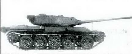 Танк Т-54, на испытаниях. Вид справа. Март 1945 г.