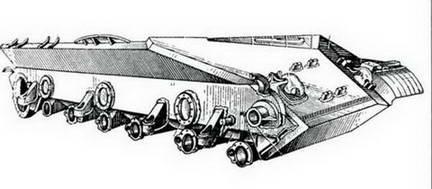 Бронекорпус танка ИС-3 до программы УКН и модернизации. 1945 г.
