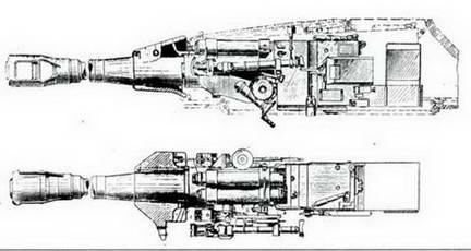 Установка 122-мм орудия Д-25 в башне танка ИС-3.