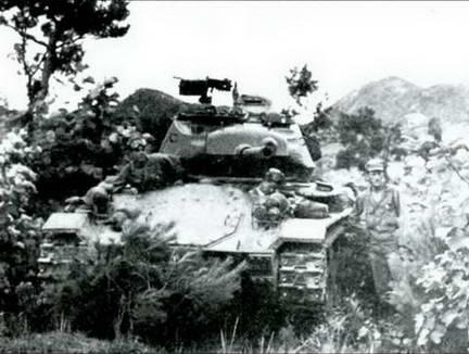 Легкий танк М24 «Чаффи» 25-й пехотной дивизии. Июль 1950 г.