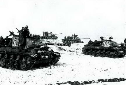 Танки М46 «Генерал Паттон» 24-й танковой дивизии около Янпунг. Март 1951 г.