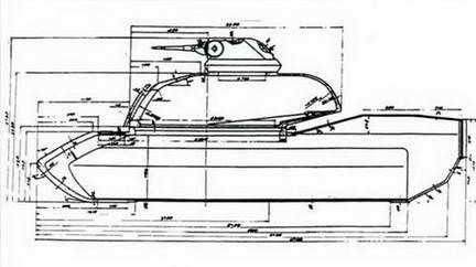 Схема бронирования американского среднего танка М-48 «Паттон-III»