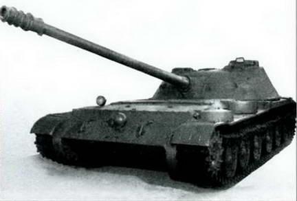 СУ-100 (Объект 416) во время на показе в НИБТ полигоне. 1952 г.