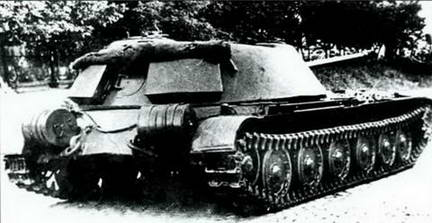 СУ-100 (Объект 416) вид сзади. 1951 г.