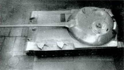 Опытный образец танка «Объект 416» со 100-мм орудием Д-10Т. 1950 г.