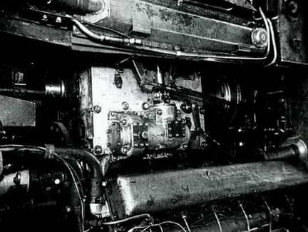 Вид на МТО танка Т-54. 1948 г.