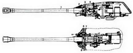 Установка 122-мм орудия Д-25ТА в башне танка Т-10