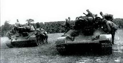Занятия танкового десанта. Июль 1943 г.