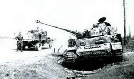 Захваченный немецкий танк PzKpfw IV Ausf Н. Осень 1943 г.