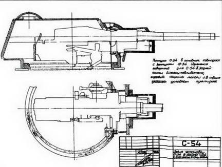 Установка 76-мм орудия большой мощности С-54 в башне Т-34. 1943 г.