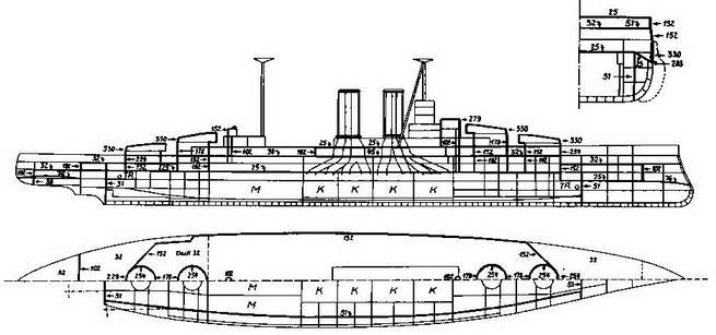 """Линейные корабли типа """"Куин Элизабет""""."""