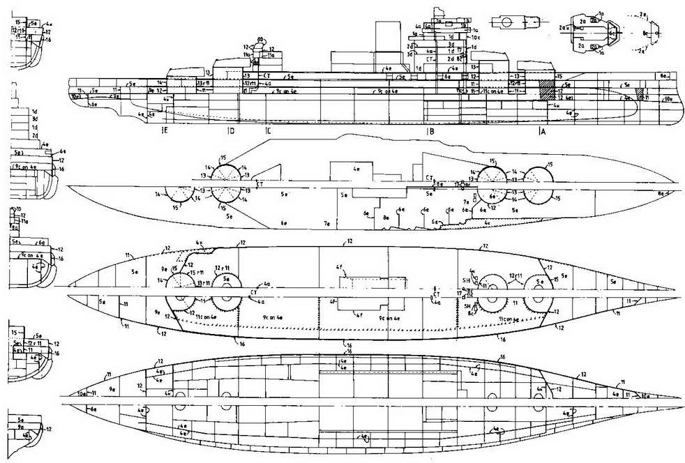 """Линейный корабль """"Уорспайт"""". 1938 г."""