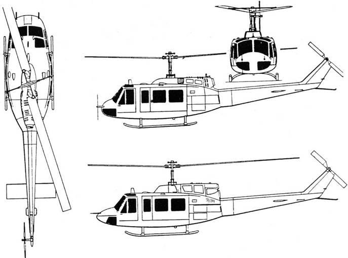 БЕЛЛ 205 «ИРОКЕЗ» (UH-1) И «ХЬЮ»