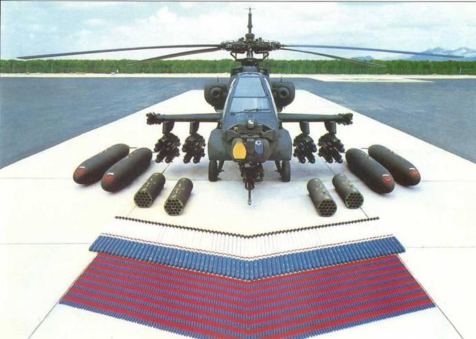 Возможные варианты вооружения боевого вертолета АН-64А «Апач»: