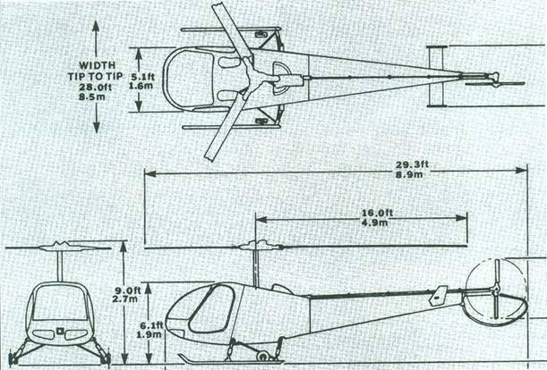 Схема вертолета Энстром F-28