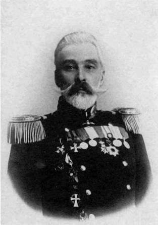 "Командир броненосца ""Цесаревич"" капитан1 ранга И.К. Григорович"