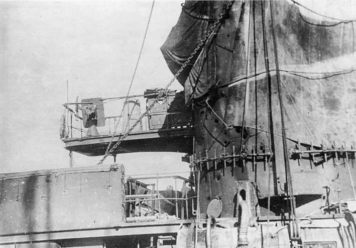"""Приложение №3   Повреждения эскадренного броненосца """"Цесаревич"""" в бою 28 июля 1904г.*"""