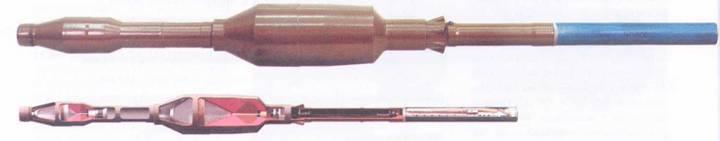 Общий вид и разрез выстрела ПГ-7ВР.