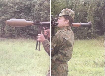 Стрельба из РПГ-7В1 гранатами ПГ-7Л и ТБГ-7.
