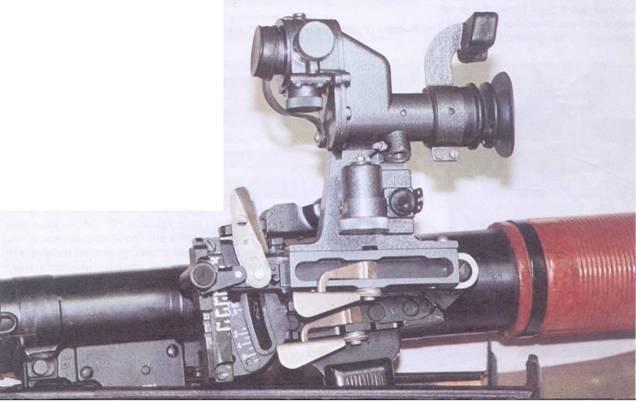 Приспособление УП-7В на гранатомете РПГ-7В2.