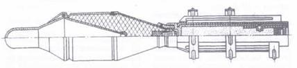 Разрез реактивной противотанковой гранаты ПГ-70 к гранатомету РПГ-1.