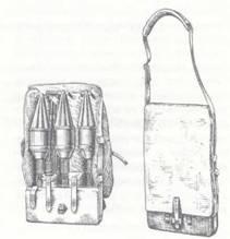Сумка для переноски гранат ПГ-2 и ЗИПа для гранатомета РПГ-2.