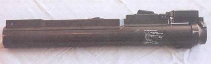 Гранатомет М72 в походном положении.
