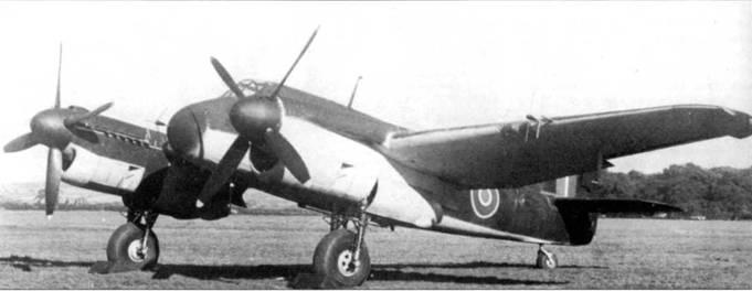 Хотя в качестве альтернативы моторам «Геркулес» для установки на «Бьюфайтер» рассматривались двигатели «Гриффон», последние были зарезервированы для самолетов морской авиации. На этом Mk.IIF (Т3177) проходили летные испытания «Гриффона», пока Бристоль не пришлось отказаться от него в пользу мотора «Мерлин», устанавливавшегося на все «Бьюфайтеры» Mk.II.