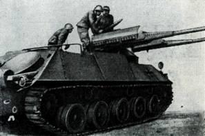 Рис. 112. Бронетранспортер HS-30 со спаренной установкой 80-мм автоматических гранатометов