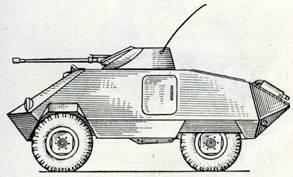 Рис. 119. Разведывательный бронеавтомобиль «Унимог SH»