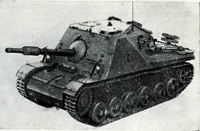 Рис. 126. Самоходная 75-мм <a href='https://arsenal-info.ru/b/book/1671492103/2' target='_self'>противотанковая пушка</a> PVKV 71