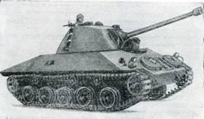 Рис. 131. Самоходная установка 90-мм противотанкового орудия «Мекар» на шасси HS-30 «Испано-Сюиза»