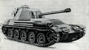 Рис. 134. Самоходная установка 90-мм противотанкового орудия «Мекар» на шасси «Пират»