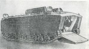 Рис. 41. Плавающий бронетранспортер LVTP5