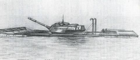 Рис. 6. Средний танк М47 «Паттон» II, оборудованный плавсредством
