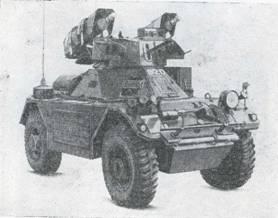 Рис. 63. Бронеавтомобиль «Феррет» с ПТУРС «Виджилент 897»