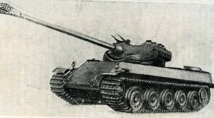 Рис. 81. Тяжелый танк АМХ-50 «Сен-Шамон»