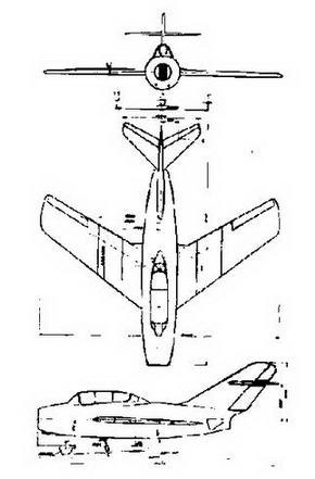 Первоначальный вид УТИ МиГ-15.
