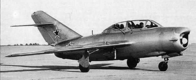 УТИ МиГ-15 (СТ-7), оборудованный РЛС «Изумруд».