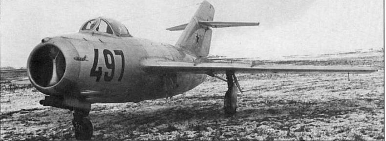 Истребитель МиГ-1 5бис №53210497 производства завода №21.