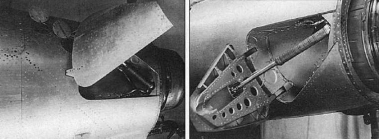 Установка тормозных щитков на самолете МиГ-15 (С-3).