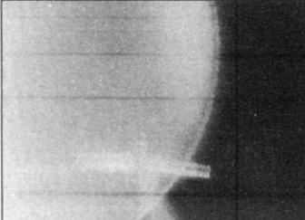 Вверху: в кадре ФКП — F-86, стрельба полковника Пепеляева, 28.11.51 г.